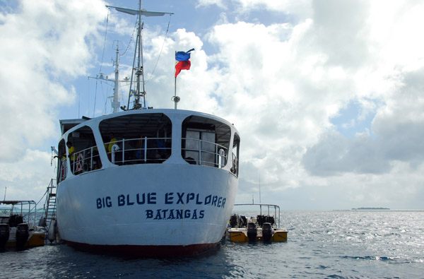 Big Blue Explorer, a live-aboard dive boat from Batangas in the Philippines
