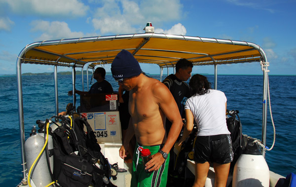 Back on the dive boat
