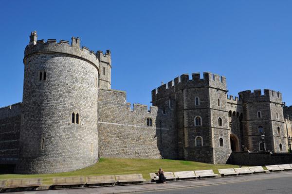 Southwest corner of Windsor Castle