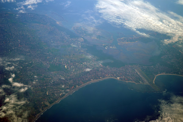 Southern Bali north of Bali International Airport (BLI/WADD) including Kuta, Legian, Seminyak and Denpasar