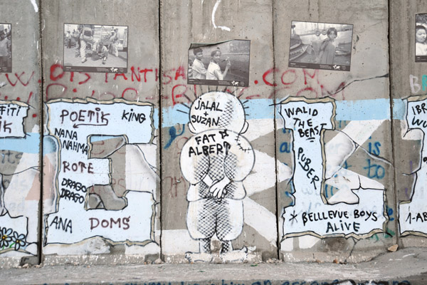 West Bank Separation Wall graffiti and posters