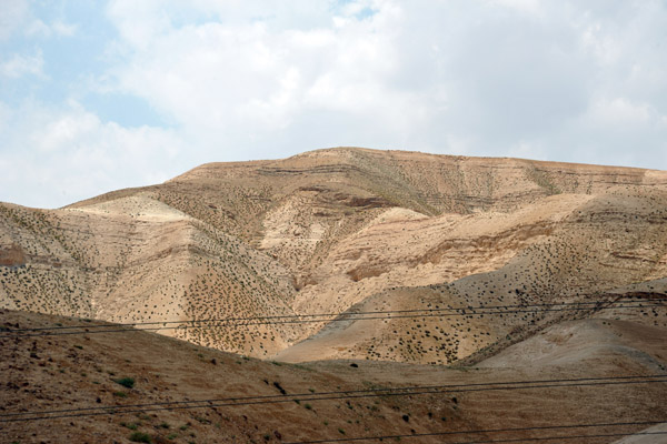 The road through the West Bank from the Allenby Bridge and Dead Sea to Jerusalem