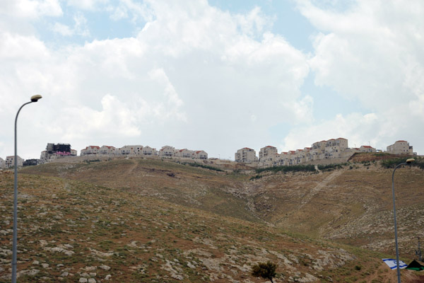 Israeli settlement of Mitspe Nevo, a branch off Maale Adumim. on a ridge above Highway 1 from the Dead Sea to Jerusalem
