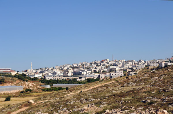 The Palestinian city of Hebron, the largest in the southern West Bank