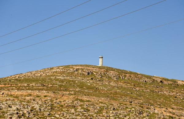 Israeli watchtower overlooking Highway 60 south of Hebron