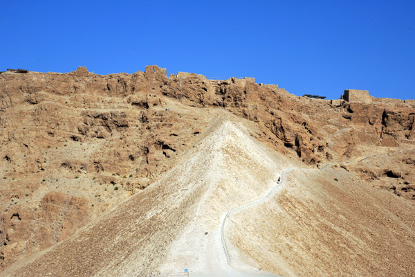 The Roman Siege Ramp where the walls of Masada were breached in 73 AD
