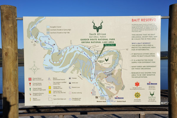 Garden Route National Park - Knysna National Lake Area map
