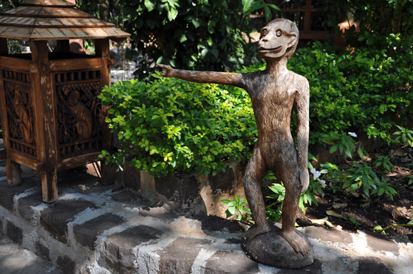 Whimsical monkey sculpture, Popa Mountain Resort