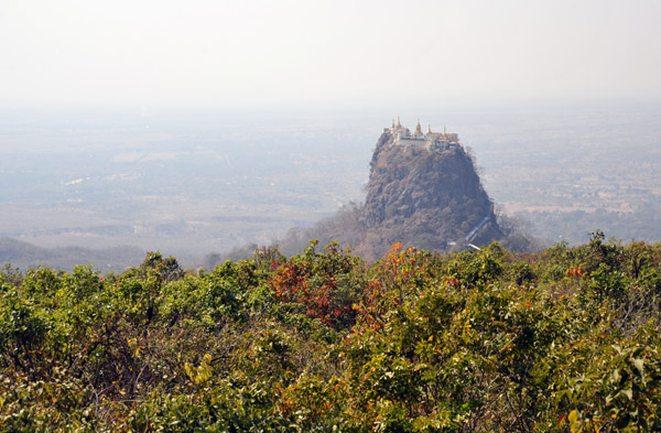 View of the monastery from Popa Mountain Resort