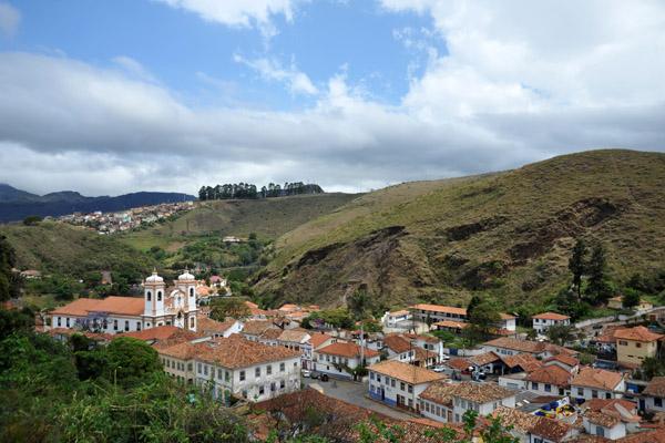 View of Largo do Pilar from Rua G. Vargas, Ouro Preto