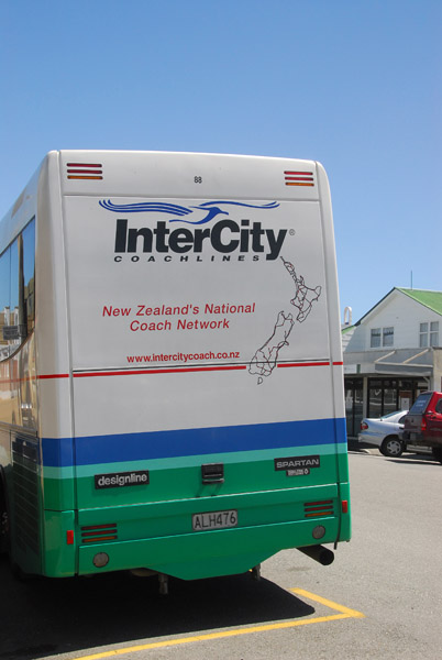 New Zealand InterCity Coachlines bus