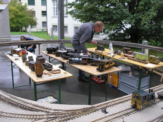 live steam rolling stock