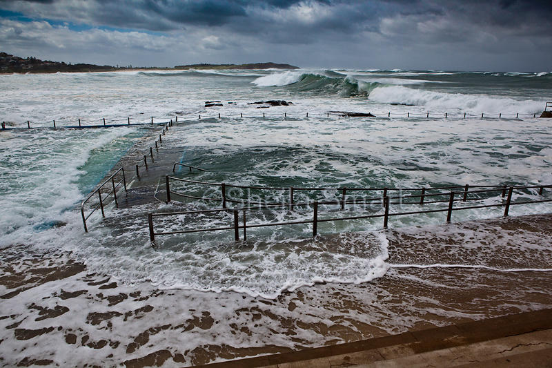 Dee Why rockpool in storm