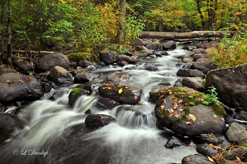 84.71 - Sawtooth Mountains: Tait River, Early Autumn