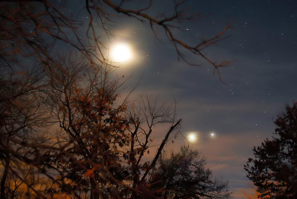 Moon/Venus/Jupiter Conjunction