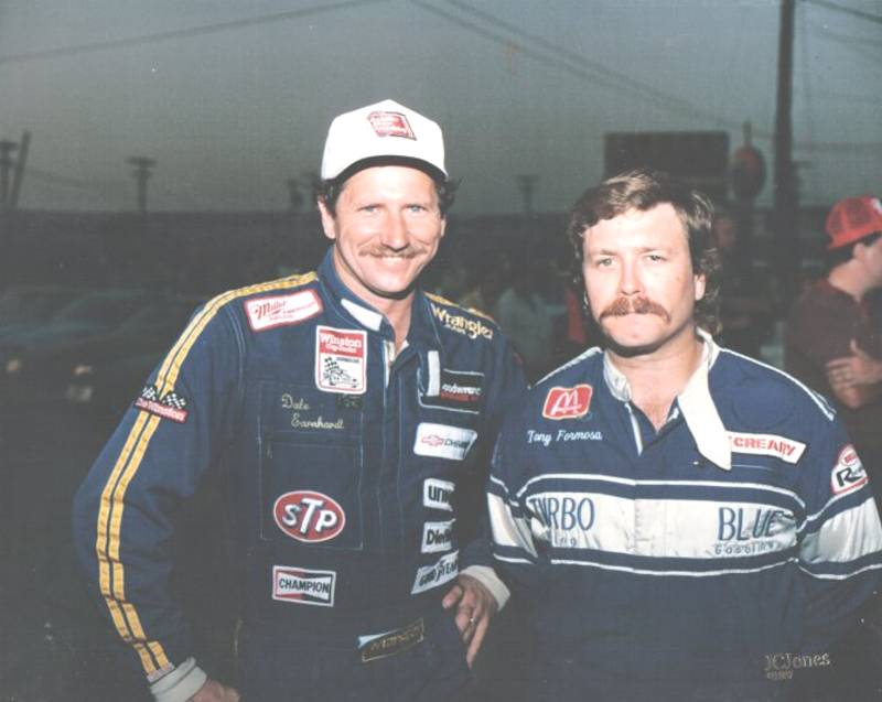Dale Earnhardt and Tony Formosa Jr 1988