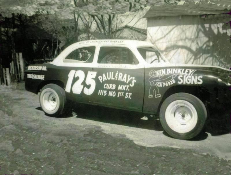 Charlie Binkleys first race car Feburary 21, 1960