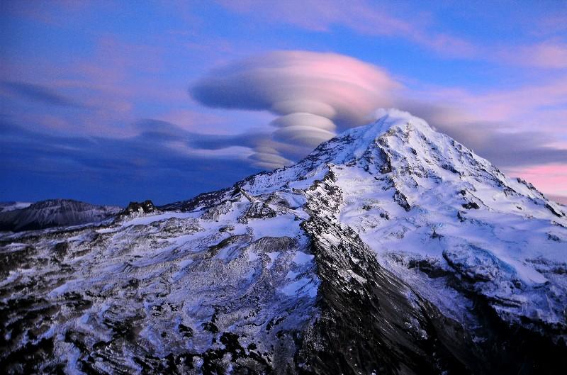 blue Mt Rainier