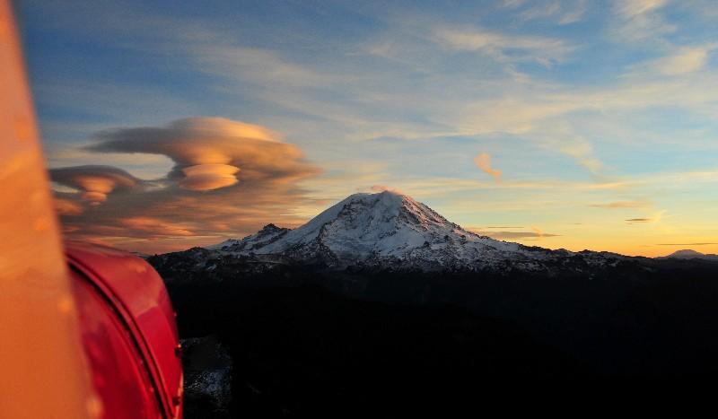 big red to Rainier