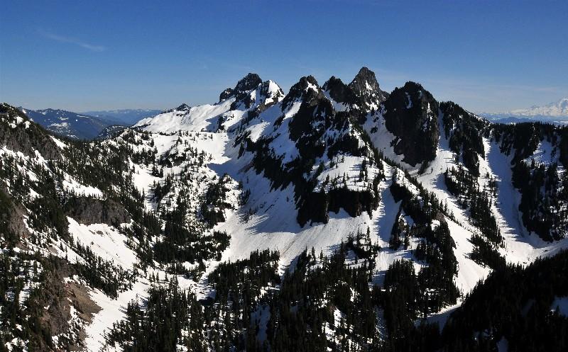Chair Peak and Kaleetan Peak