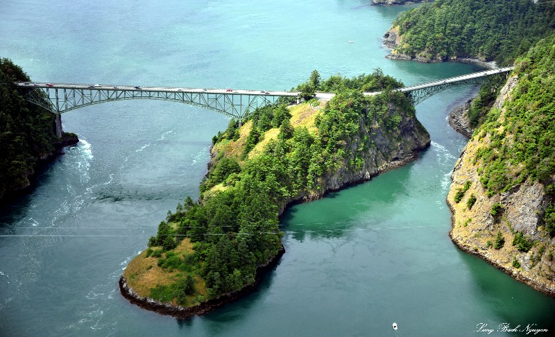Deception Bridge and Pass, Whidbey Island, Washington