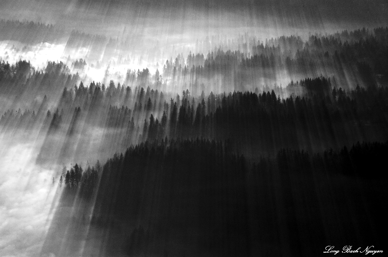 sunrays curtain, Issaquah Plateau, Washington