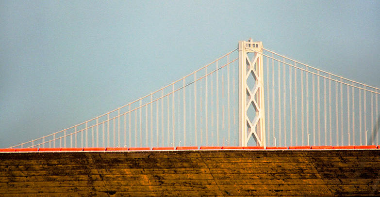 The San Francisco Bay Bridge from that area