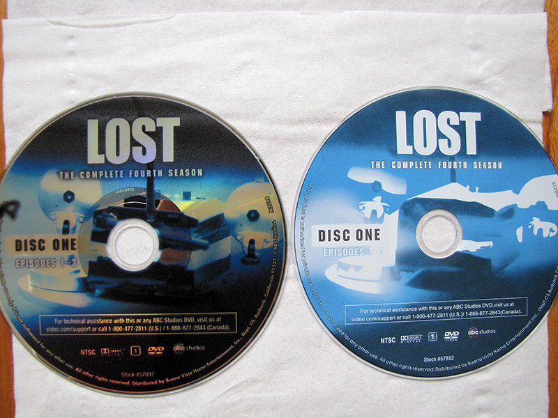 B&N  S4 disc label vs fake S4 disc label