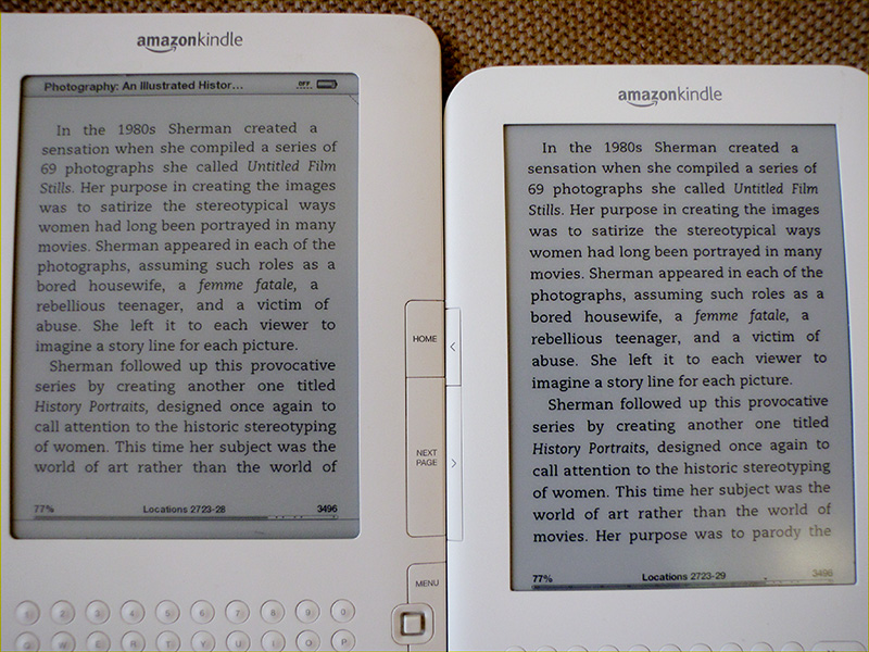 Kindle 2 and Kindle 3 - plain text only