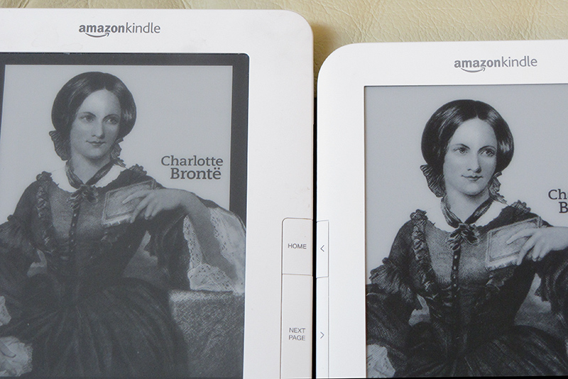 Kindle 2 and Kindle 3 Bronte  screen-sleeper - See next shot also.