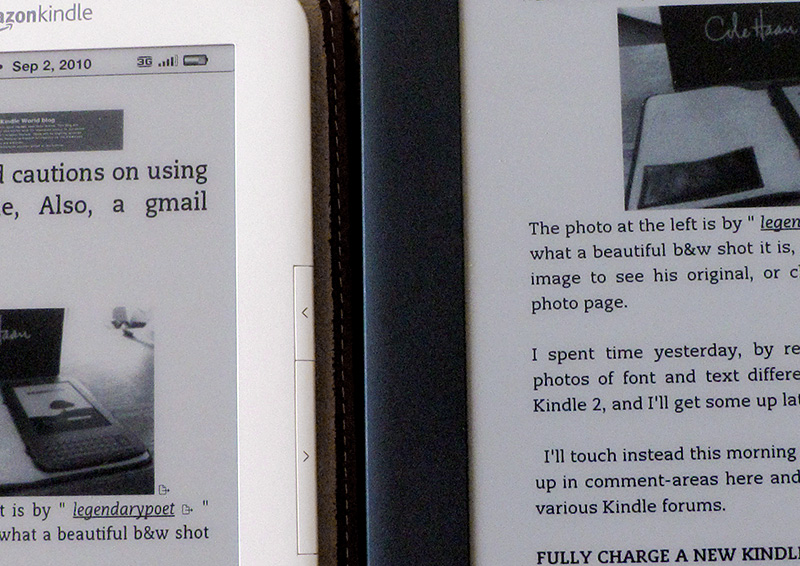 Text closer-up - Kindle 3 & Kindle DX Graphite