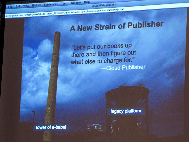 Goodreads - Cloud publisher, tower of e-babel
