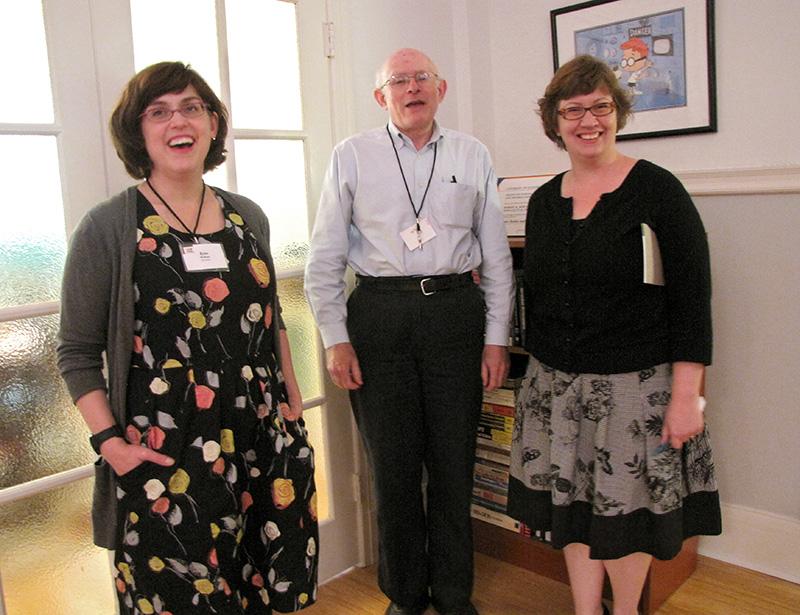 Erin McKean, Prof. Michael Lesk,  Eleta Exline