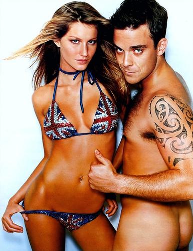 Gisele Bundchen & Robbie Williams