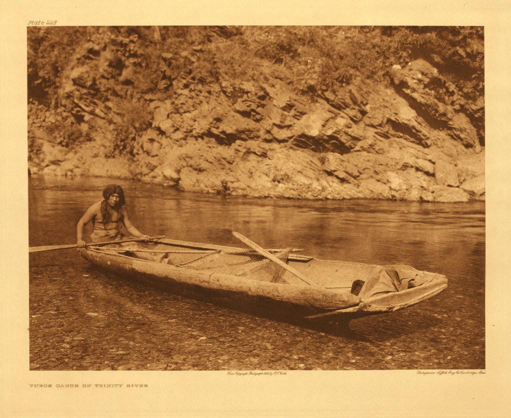 Yurok canoe on Trinity River