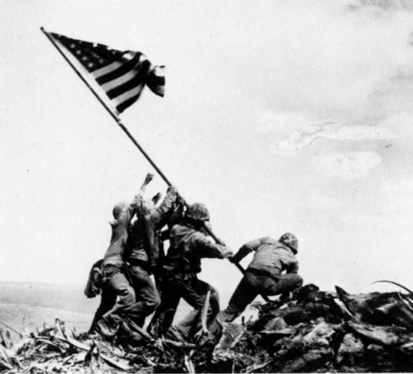 Joseph J. Rosenthal /1911-2006/: Raising the Flag on Iwo Jima, 1945