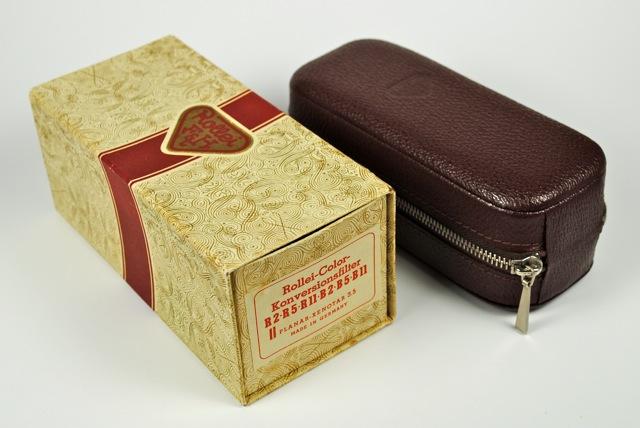Rolleiflex R II Color Correction Filter Set case & box