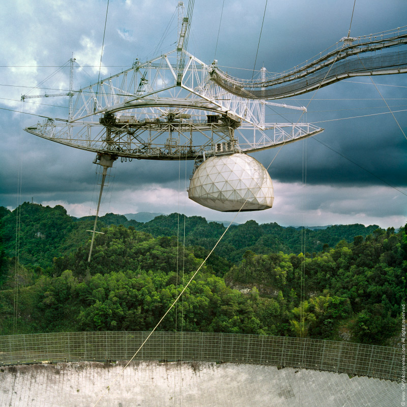 The Arecibo radio telescope, Puerto Rico