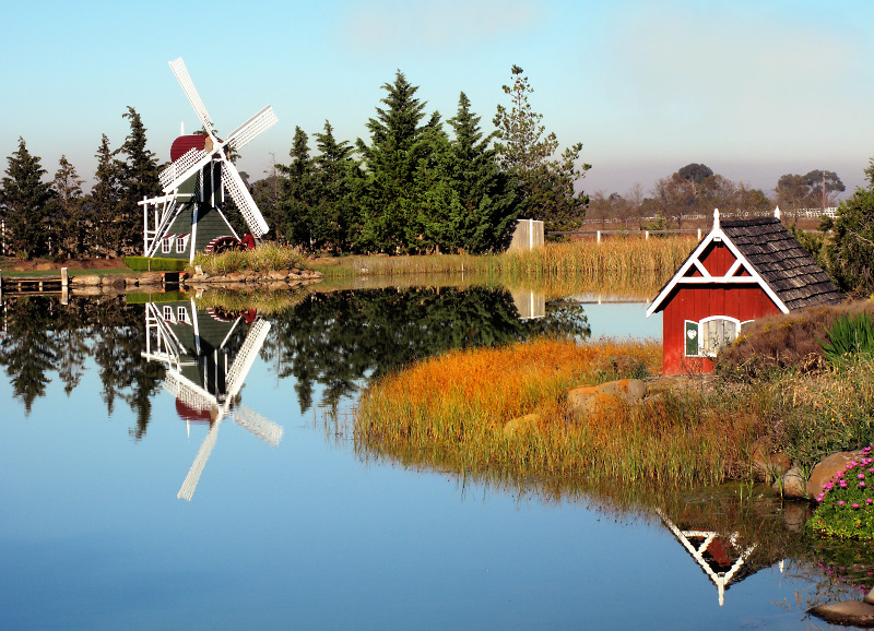 Windmill by the pond ~*