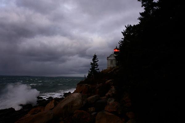 127DSC08387imagebassharborlighthouse.jpg Bass Harbor Head Lighthouse- Winter Storm Acadia National Park