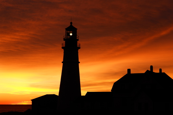 DSC00206.jpg  1 OF MANY MOODS THIS ONE DAWN ALSO see... Portland Head Light, donald verger, lighthouse