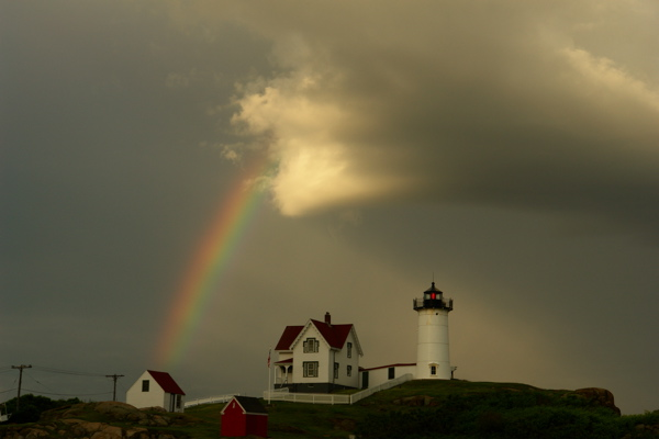 2263.8954. dedicated to Lois A Rainbow Hunter... THE NUBBLE, nubble lighthouse, york, maine, i left, then saw a white cloud