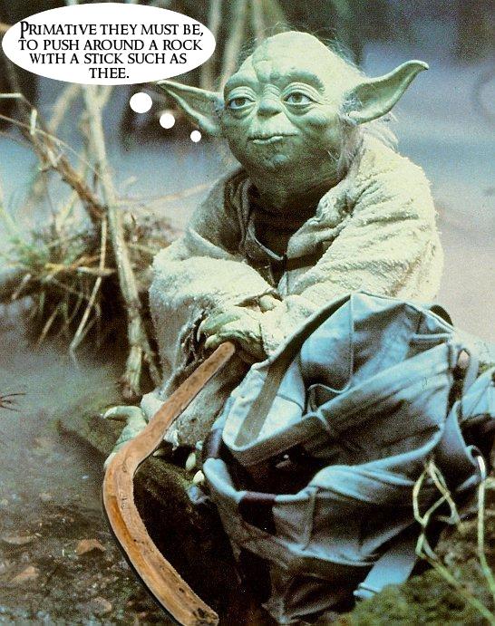 Yoda hockey stick.