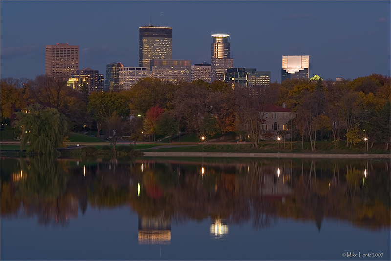 Isles nightview of Minneapolis, MN