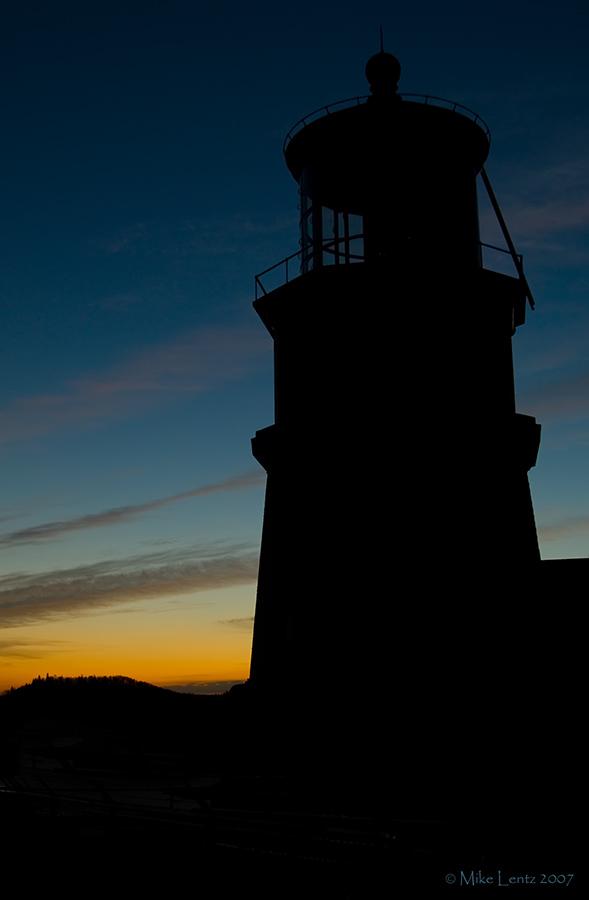 Split Rock silhouette at dusk