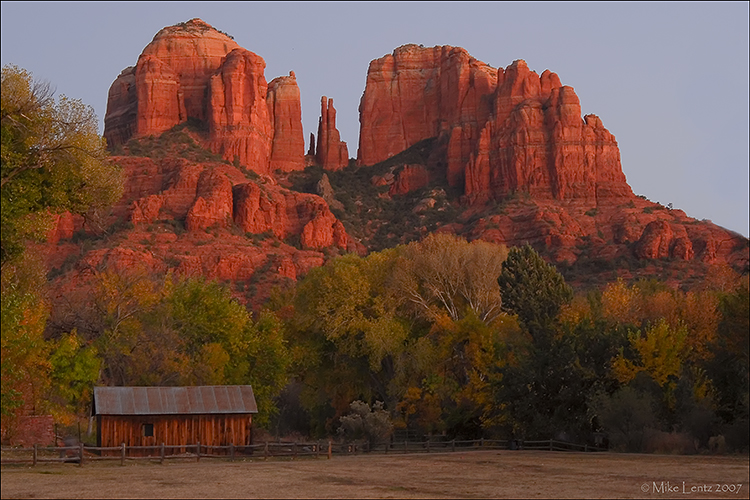 Cathedral Rock shed scene
