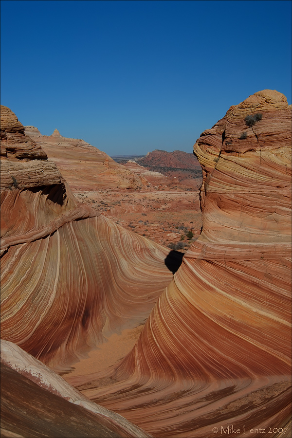 Sandstone teepees in the wave