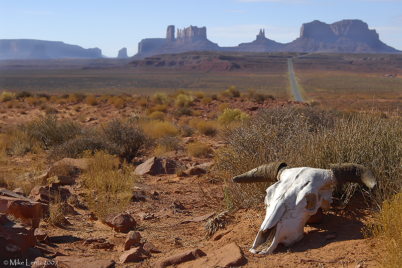Monument valley view from the skull
