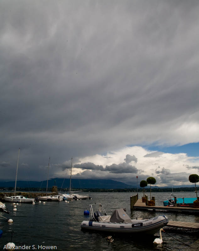 Weather over Lac Leman