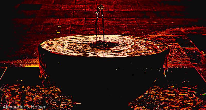 9 May 09 - molten fountain
